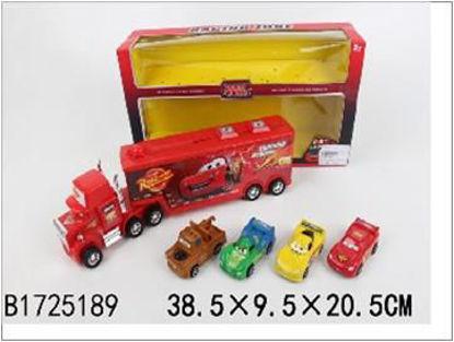 Image de FRICTION TRUCK W/4PCS CAR(MOBILIZE ALL CARS)