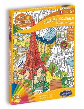 Image de Art & Créations POSTER A COLORIER - PARIS