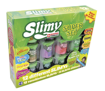 Image de Coffret Slimy Super Set - 8 pots * 100 gr:  800gr (8 couleurs)