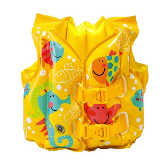 Image de gilet de natation jaune intex