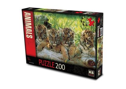 Image de Puzzle 200pcs les tigres