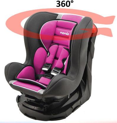 Image de Siège Auto Pivotant REVO 360°, Groupe  (de 0 à 18 kg),  Rose