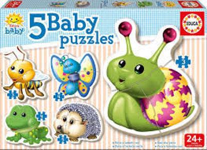 Image de 5 Baby puzzles 'Animaux forêt' 15892