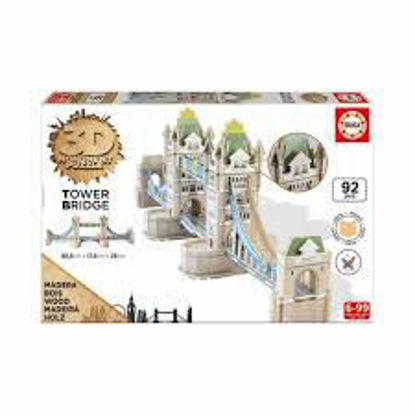 Image de PUZZLE BOIS 92PCS 3D TOWER BRIDGE 16999