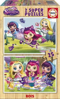 Image de Puzzle bois 2*25 Mini-sorcières 17229