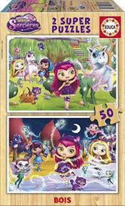 Image de Puzzle bois 2*50 Mini-sorcières 17230