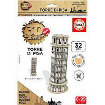 Image de Puzzle bois 32pcs 3D Torre di Pisa 17305