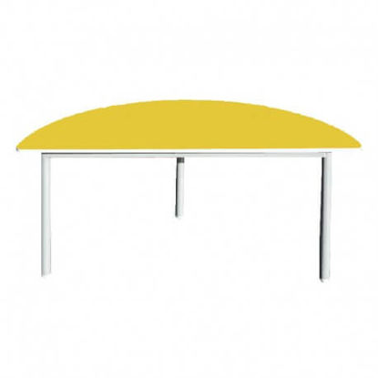 Image de TABLE MATERNELLE DEMI CERCLE L:120;P:60;H:52cm