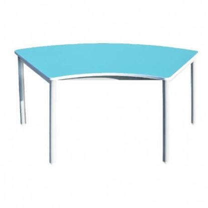 Image de TABLE MATERNELLE EN ARC L:120;P:60;H:52cm