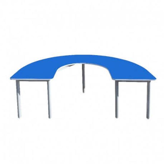 Image de TABLE MATERNELLE EN U L:150;P:100;H:52cm