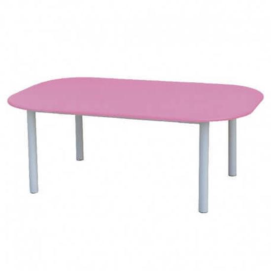 Image de TABLE MATERNELLE OVALE TOP PVC 150X95X65cm
