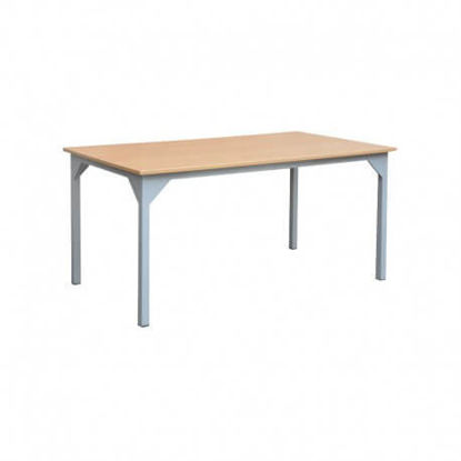 Image de TABLE REFECTOIRE STRUCTURE EN TUBE CARRE 120X80X75 cm