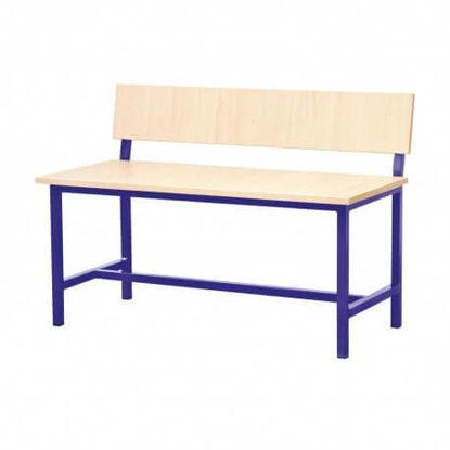 Image de BANQUETTE TABLE ECOLIER BIPLACE 100X40X70
