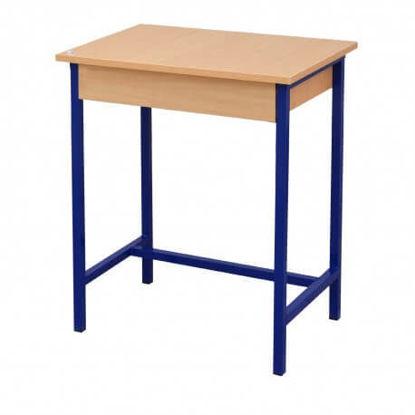 Image de TABLE ECOLIER MONOPLACE AVEC ETAGERE EN BOIS 65X45X75