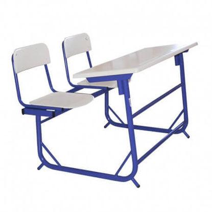 Image de TABLE EDUCATION BIPLACE A 2 POSITIONS TOUT WERZALITE 110X45CM