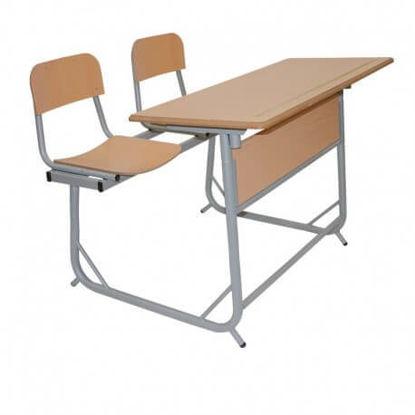 Image de TABLE EDUCATION BIPLACE DEMONTABLE A 2 POSITIONS 120X50cm