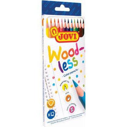 Image de 12 crayons woodless 734/12