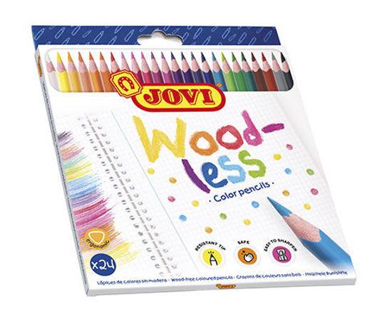 Image de 24 Crayons Woodless 734/24