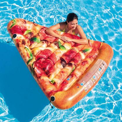 Image de Matelas de plage tranche pizza
