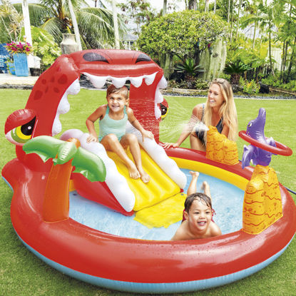 Image de Air de jeux gonflable avec piscine