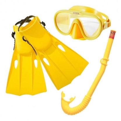 Image de Ensemble masque de plongé  avec tuba et palmes enfant 35-37