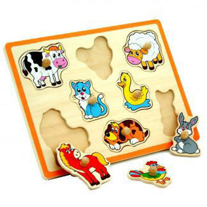 Image de viga flat puzzle- farm animals