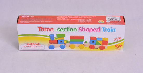 Image de Train en forme de 3en1section en bois ak221