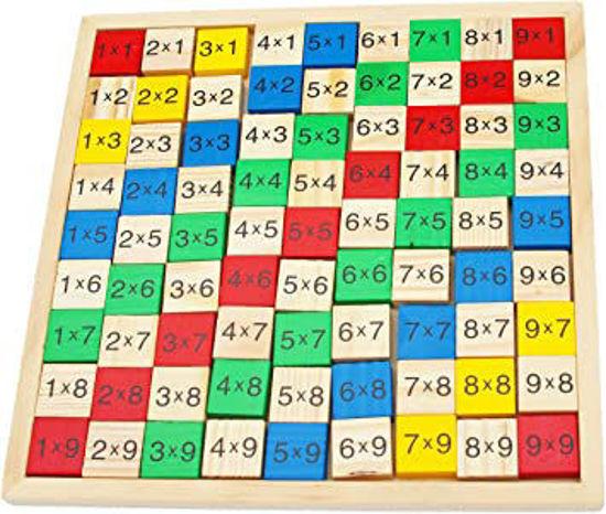Image de table de multiplication en bois ak284