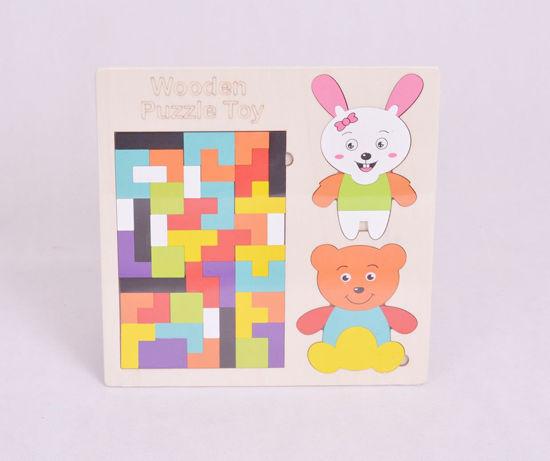 Image de puzzle en bois colore tangram ak211