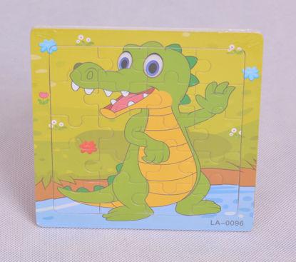 Image de puzzle en bois crocodile ak129