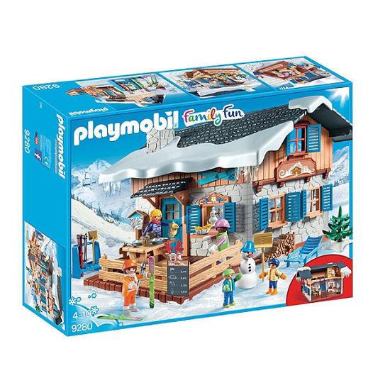 Image de Playmobil chalet avec skieurs
