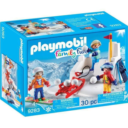 Image de Playmobil Enfants avec boules des neiges