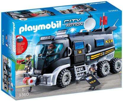 Image de Playmobil  Camion Policiers  avec Sirène et Gyrophare