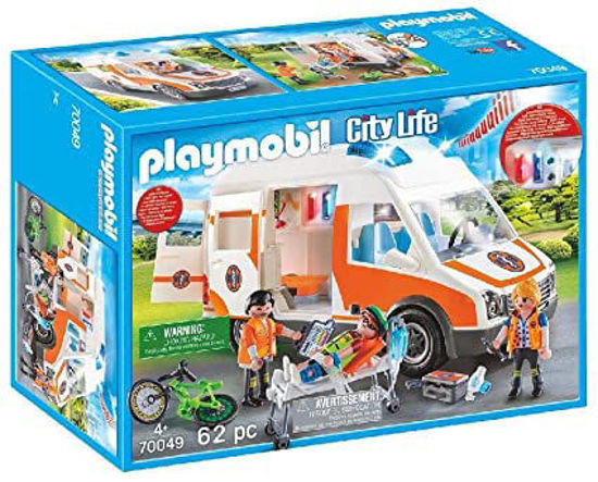 Image de PLAYMOBIL Ambulance with Flashing Lights