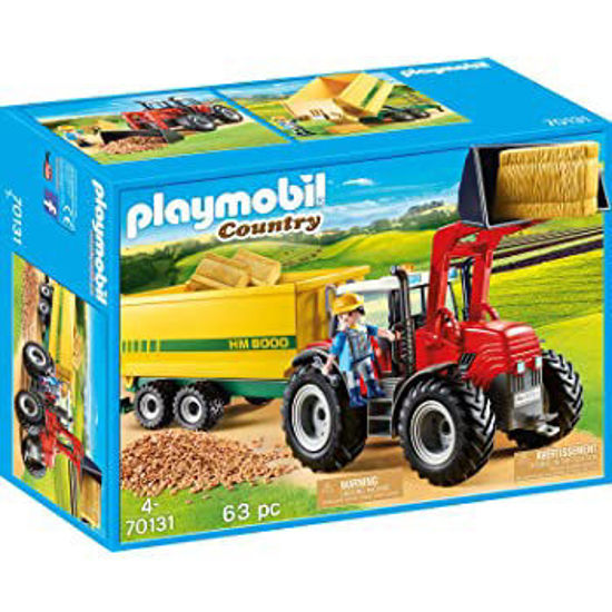 Image de PLAYMOBIL Country Tractor with Feed Trailer