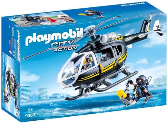 Image de Playmobil - Hélicoptère et Policiers d'Élite