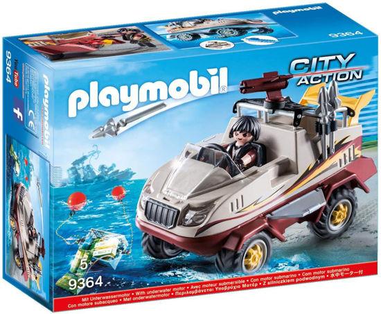 Image de Playmobil - Véhicule Amphibie et Bandit