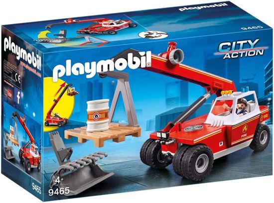 Image de Playmobil - Pompier avec Véhicule et Bras Télescopique