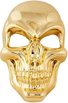 Image de masque tete de mort doré