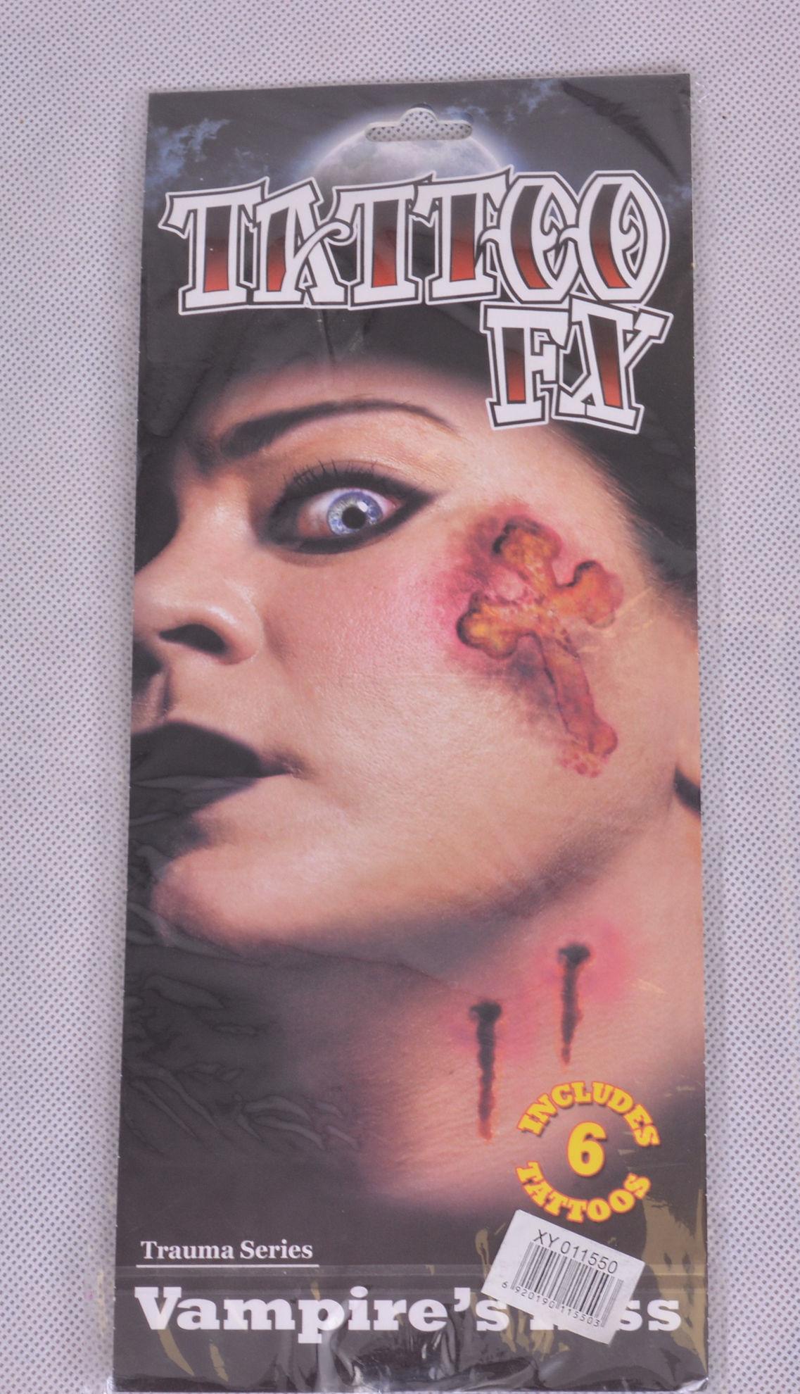 Image de Tatouage halloween cicatrice vampire,s  Kiss