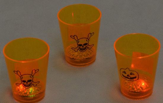Image de Bougie LED orange Halloween