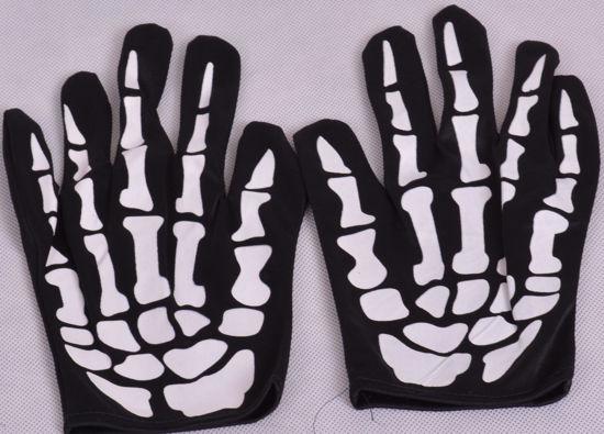 Image de Paire de deux gants squelette