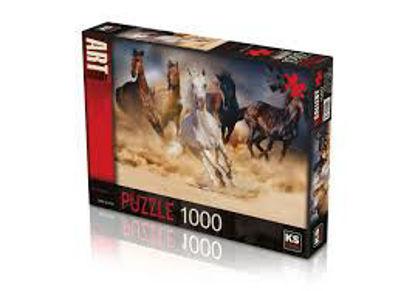 Image de Puzzle 1000 pc wild horses
