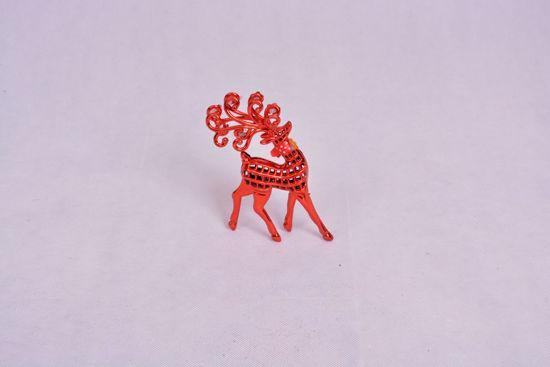 Image de décoration Noel gazelle Rouge