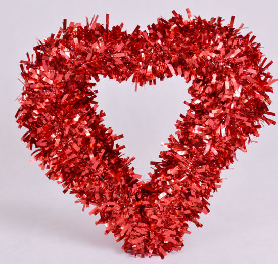 Image de Couronne de noël cœur rouge décoration de noël