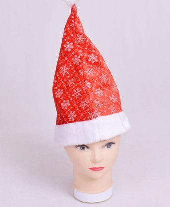 Image de Bonnet de Pere  mère Noel en tissus velours rouge avec bordure