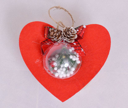 Image de Déco sapin de noël cœur décoratif