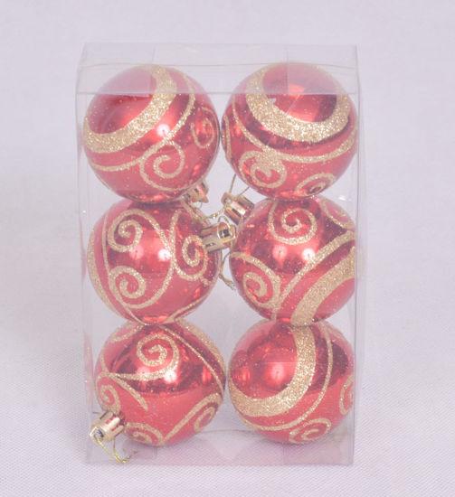 Image de Boite de 6 boules de décoration du Sapin