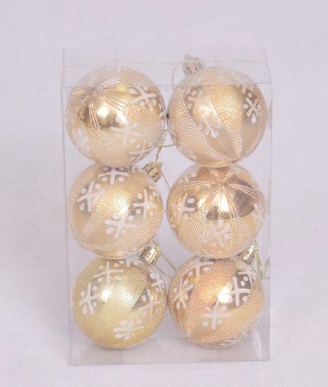 Image de Boite de 6 boules de décoration du Sapin dore