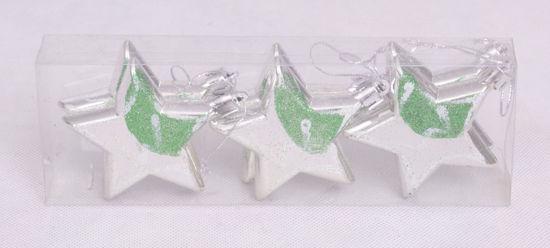 Image de boite de 6 étoiles suspendus décoration du sapin